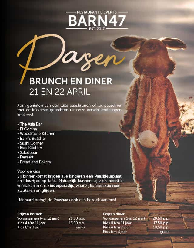 Paasbrunch & Paasdiner Barn47 Den Haag